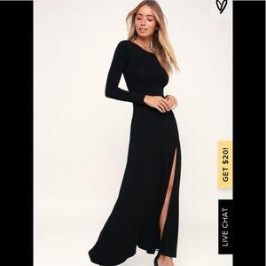 Lulu's Swept Away Long Sleeve Maxi Dress